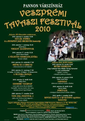 Veszprémi Tavaszi Feztivál 2010 plakát