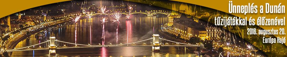 Ünneplés a Dunán tűzijátékkal